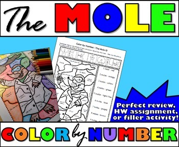 The Mole Color By Number By Msrazz Chemclass Tpt