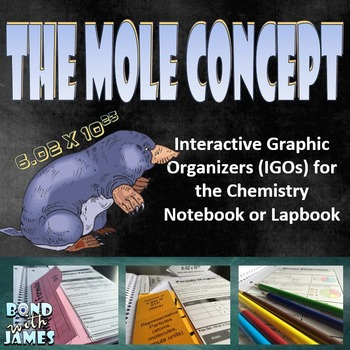 Mole Concept for Chemistry Interactive Notebooks & Lapbooks