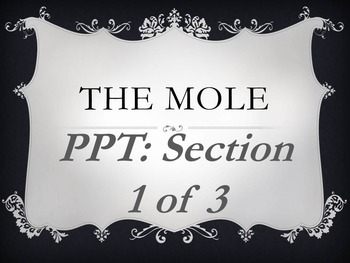 The Mole Section 1 of 3 Powerpoint- Measuring matter