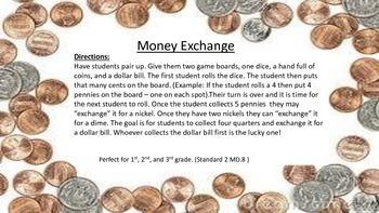 The Money Exchange Game