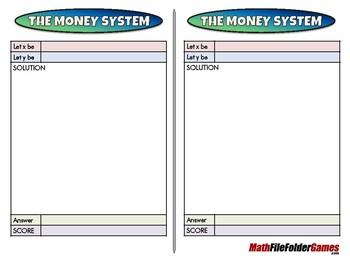 The Money System - 8th Grade Game [CCSS 8.EE.C.8]