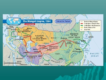 The Mongol Conquests, Genghis Khan, Lesson Plan, Notes, Handout. History 101