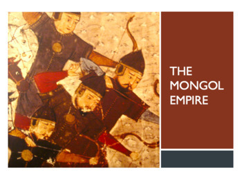 The Mongol Empire Guided Notes