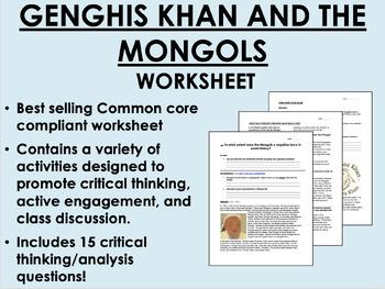 genghis khan and the mongol empire global world history common core rh teacherspayteachers com Ottoman Empire Mongol Empire Timeline