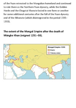 The Mongol Empire Handout
