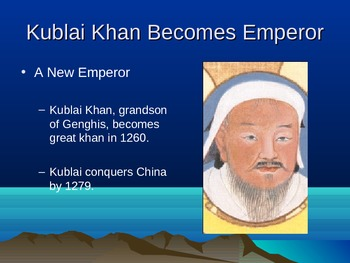 The Mongol Empire and Kublai Khan Lesson Plan, Handout.  H