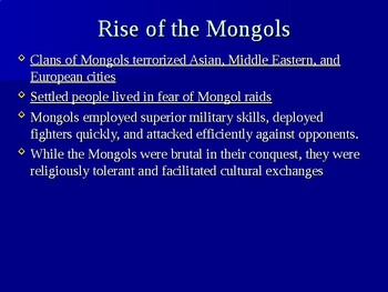 The Mongols PowerPoint