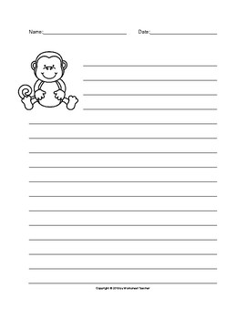 The Monkey Writing Paper Set