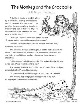 The Monkey and the Crocodile (A Folktale from India)