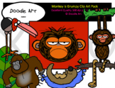 The Monkey is Grumpy Clip Art Pack