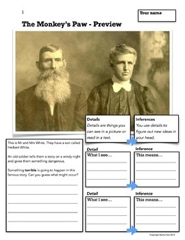 The Monkey's Paw - Adapted Text Bundle - Two levels of text for ENL and ELA
