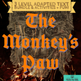 The Monkey's Paw - Adapted Text Bundle - Two levels of tex
