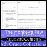 The Monkey's Paw - Alternative Assignments: Writing, Vocab