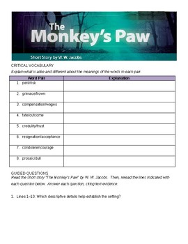 The Monkey's Paw Comprehensive Study Guide