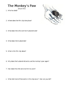 The Monkey's Paw Film Quiz