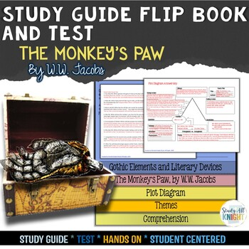 THE MONKEY'S PAW SHORT STORY LITERATURE GUIDE FLIP BOOK, TEST AND ANSWER KEYS
