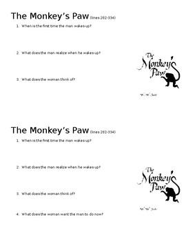 The Monkey's Paw Mini-Quiz