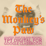 The Monkey's Paw Simplified Halloween Story - TPT Digital