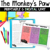 The Monkey's Paw Short Story Printable and Digital Unit for Google Classroom