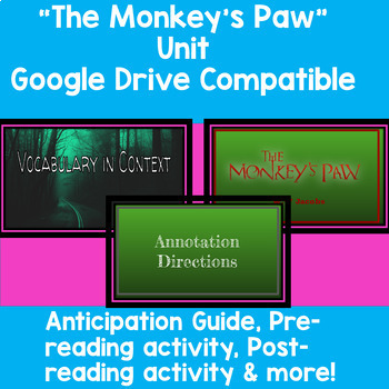 The Monkey's Paw Unit (Google Drive Compatible)