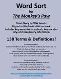 The Monkey's Paw Word Sort