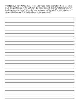 The Monkey's Paw Writing Task