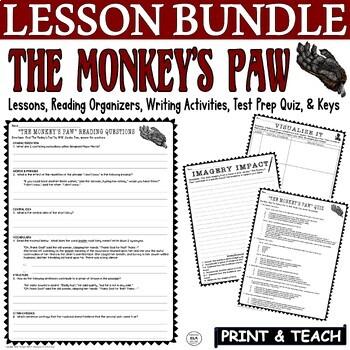 The Monkey's Paw W. W. Jacobs Common Core ELA Test Prep Activities & Quiz