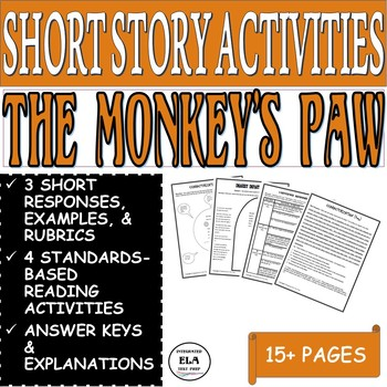 The Monkey's Paw by W. W. Jacobs: Common Core Reading Activities (4)