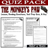 The Monkey's Paw Short Story by W. W. Jacobs: Common Core