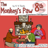 The Monkey's Paw by WW Jacobs Short Story Unit 8th Grade