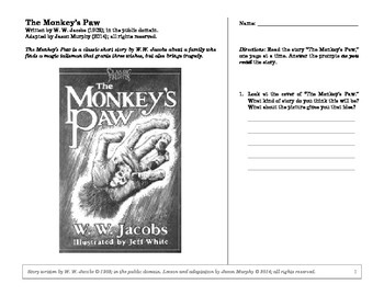 The Monkey's Paw: An Active Reading Guide