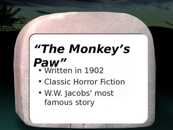 The Monkey's Paw - General info/Plot Points