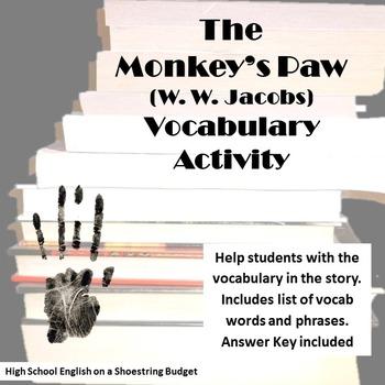 The Monkey's Paw Vocabulary Activity (W.W. Jacobs)