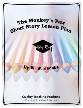 The Monkey's Paw by W. W. Jacobs Lesson, Worksheets, Questions w/ Key, PPTs