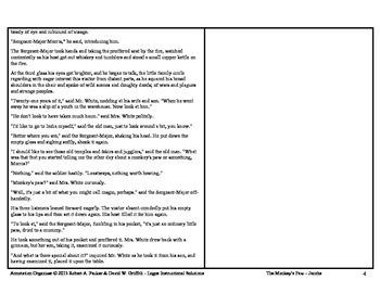 """""""MONKEY'S PAW"""" by W.W. Jacobs: Annotation Organizer"""