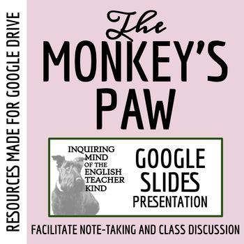"""""""The Monkey's Paw"""" by W.W. Jacobs - PowerPoint Presentation"""