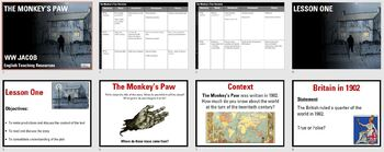 The Monkey's Paw teaching resources - Powerpoint, worksheets and plan