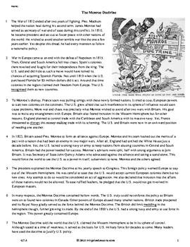 The Monroe Doctrine - Grade 7