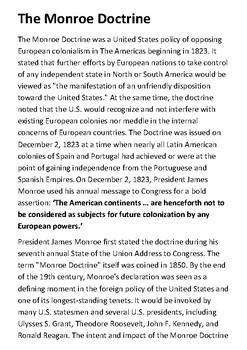 The Monroe Doctrine Handout