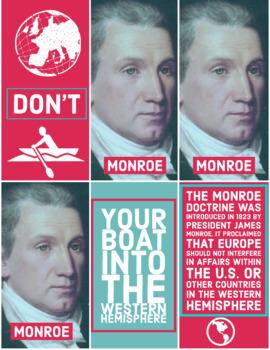 The Monroe Doctrine Word Wall Poster