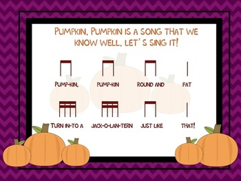 The Monster Ate My Melody!  A Dissapearing Song Activity for Pumpkin, Pumpkin