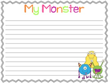 The Monster Mash: A Fall-Tastic Halloween Themed Descriptive Writing Craftivity