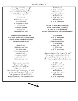 The Monster Mash lyrics