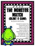 The Monster Match: A Silent E Matching Game