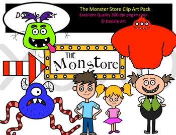 The Monster Store Clipart Pack