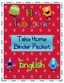 The Monster Take Home Binder-English