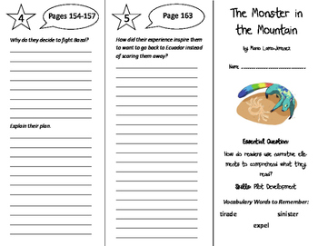The Monster in the Mountain Trifold - ReadyGen 6th Grade Unit 2 Module B