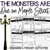 The Monsters Are Due On Maple Street Short Story Activities Digital & Printable