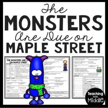 The Monsters Are Due On Maple Street Questions, Twilight Zone, Hysteria