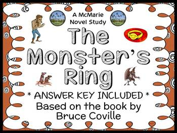 The Monster's Ring (Bruce Coville) Novel Study / Reading Comprehension Unit